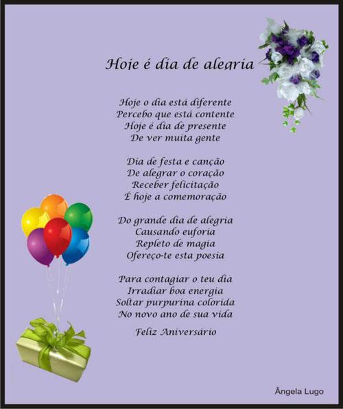 Poemas De Aniversario