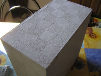 Manualidades paso a paso forrar una caja con papel pinocho - Papel para forrar cajones ...