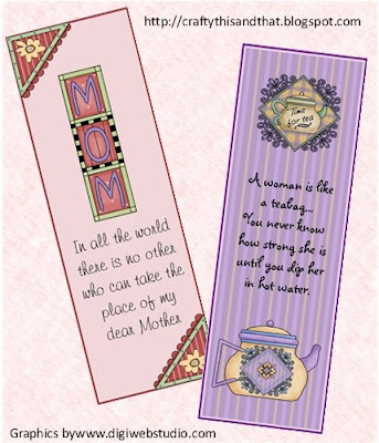 http://craftythisandthat.blogspot.com/2009/05/mothers-day-bookmarks.html