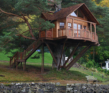 Beautiful abodes the treehouse that your dad didn 39 t build - Tree house plans for adults ...
