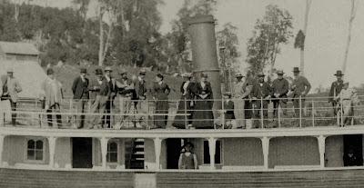 Colonos alemanes en la cubierta del vapor Llanquihue