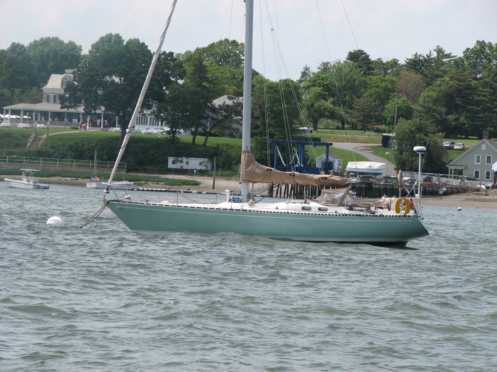 I took this shot of this nice looking Tartan 41 while sailing in Oyster Bay.