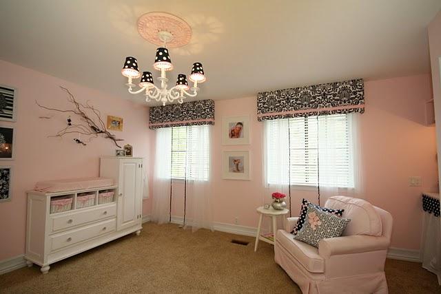 Habitaci n de bebe en rosa blanco y marino navy pink - Habitacion rosa palo ...