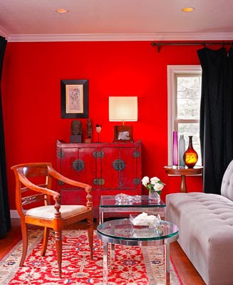Salones al rojo vivo [] Red walls in the living