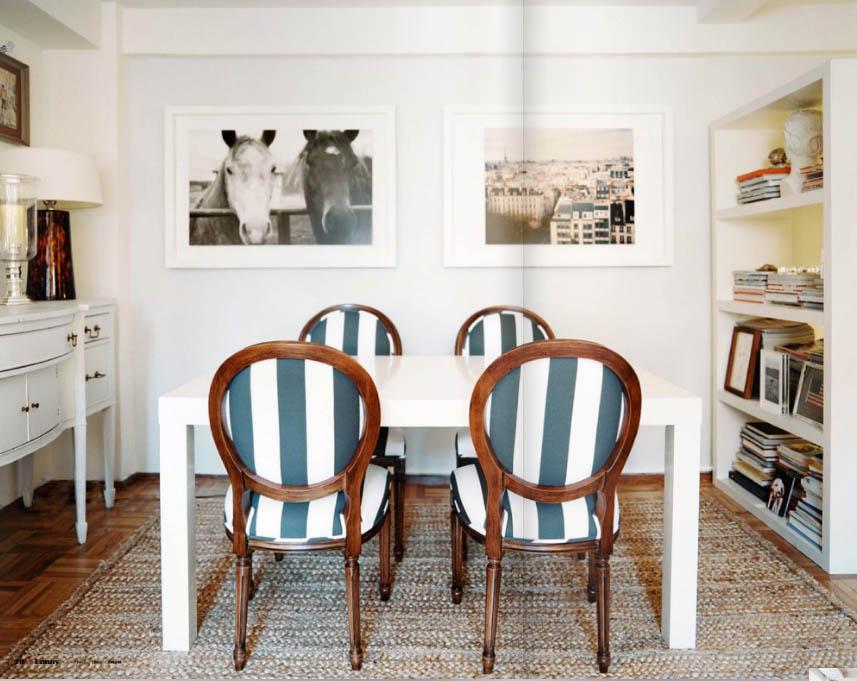 Clasico renovado edicion 25 decorar tu casa es for Sillas azules comedor