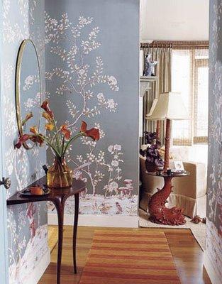 Vintage chic blog decoraci n vintage diy ideas para for Papel pintado entrada