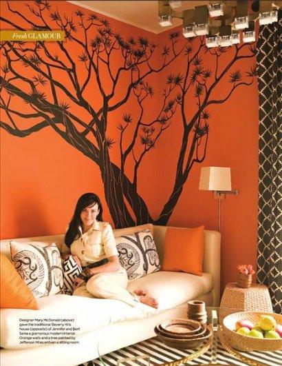 Vintage chic blog decoraci n vintage diy ideas para for Great un bano con paredes en naranja de