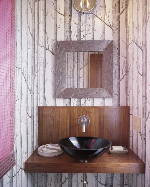 Vintage chic blog decoraci n vintage diy ideas para decorar tu casa ba os empapelados - Papel pintado sobre azulejos ...
