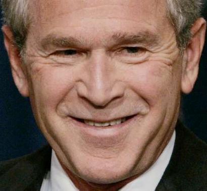 President Bush Bush reacts