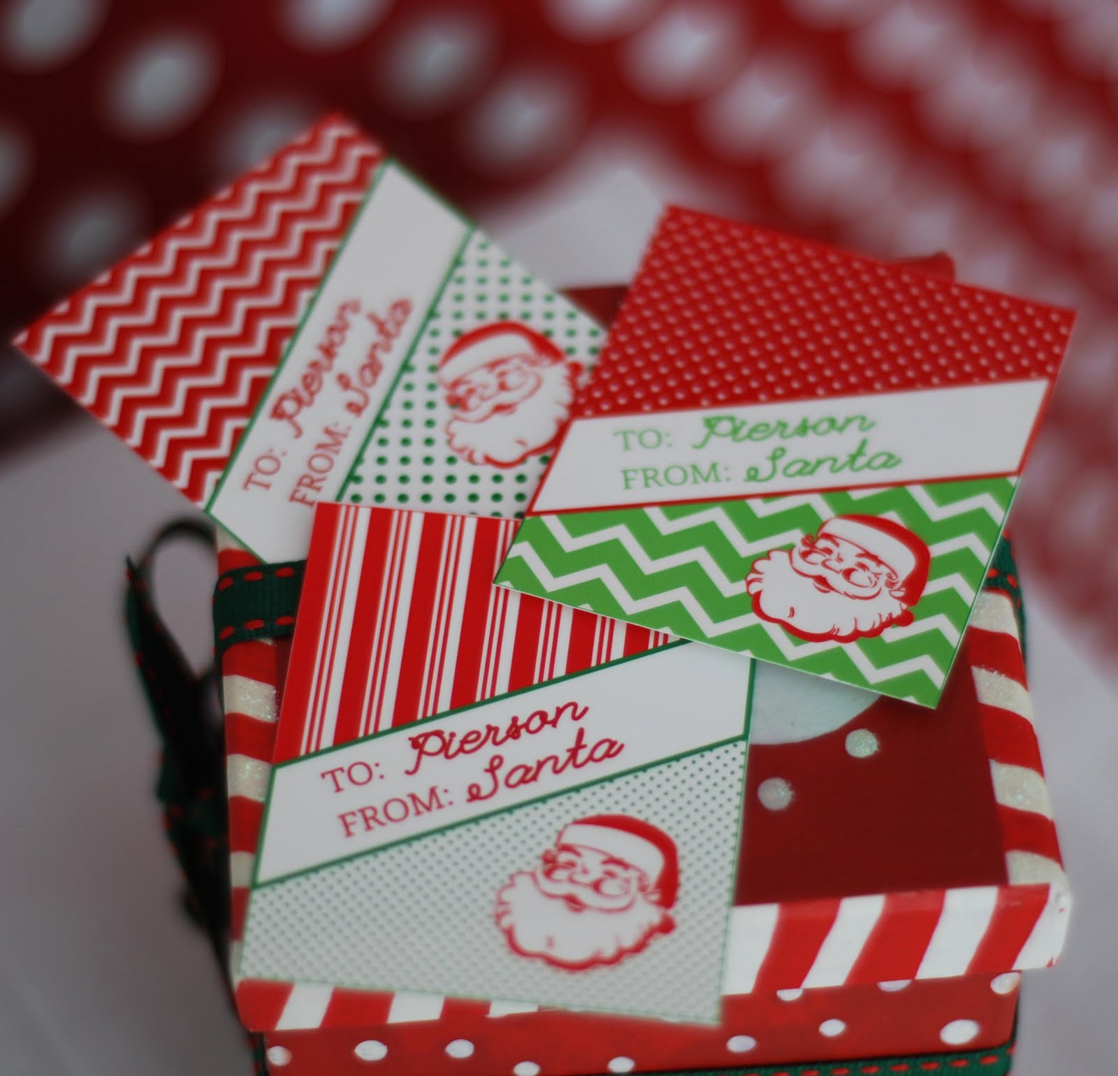Printable vintage from santa gift tags anders ruff custom printable vintage from santa gift tags negle