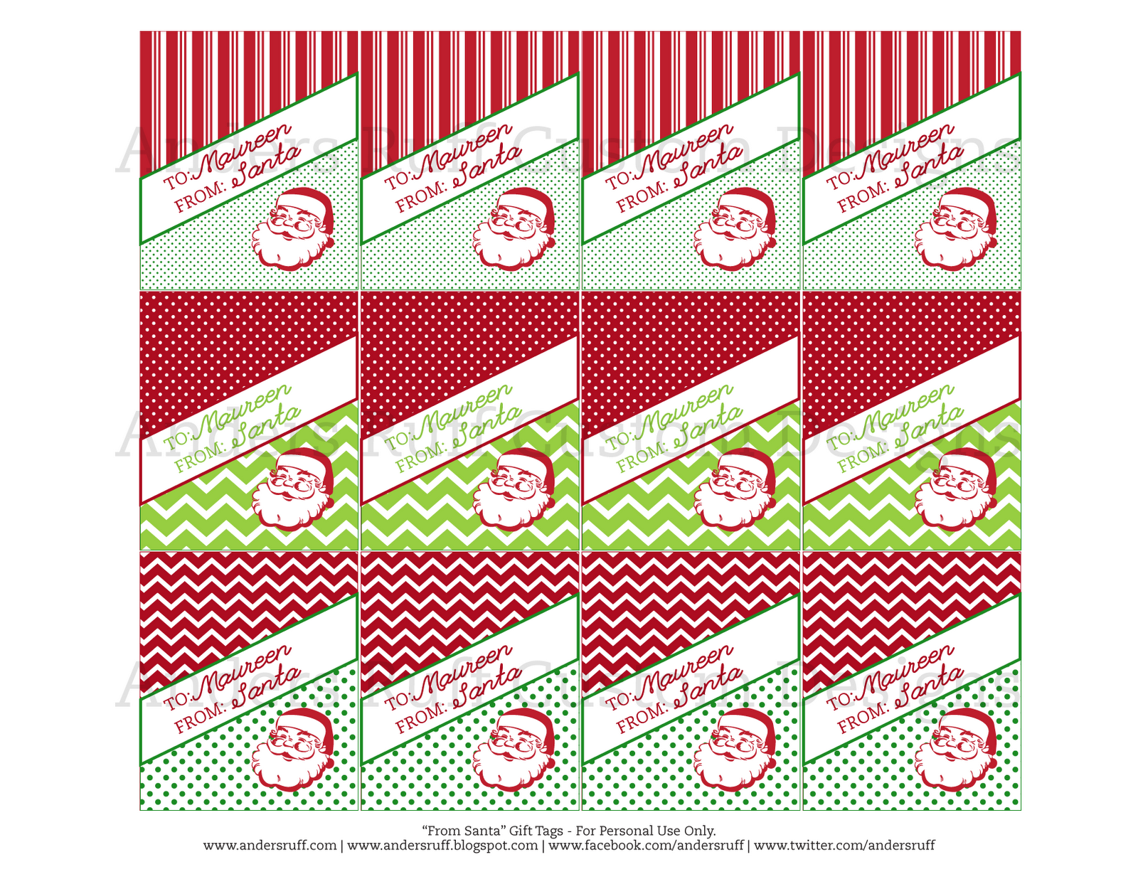 printable vintage from santa gift tags anders ruff custom