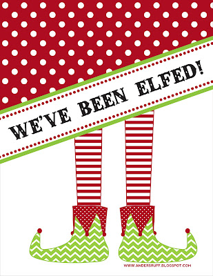 Geeky image with you ve been elfed printable