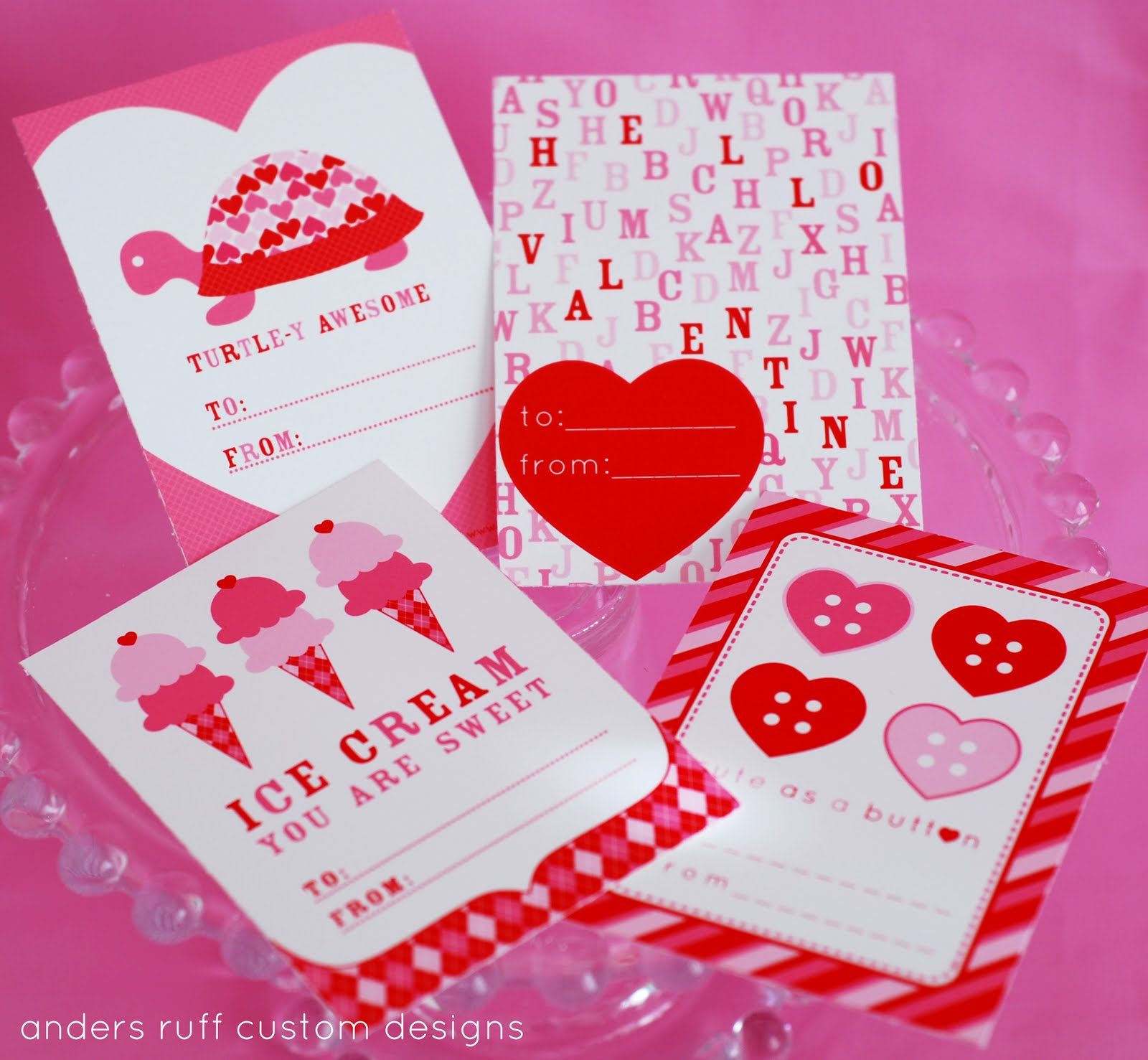 Free Printable Anders Ruff is One Year Old We Heart You 4 Free – Free Downloadable Valentine Cards