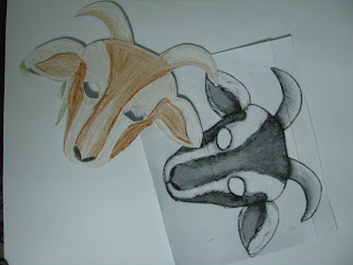 нарисованные маски козла