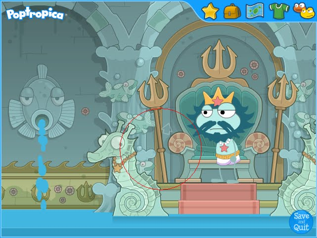Where Is Poseidon S Throne Room In Poptropica