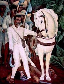 La unidad morelos el arte en la revoluci n mexicana for Emiliano zapata mural