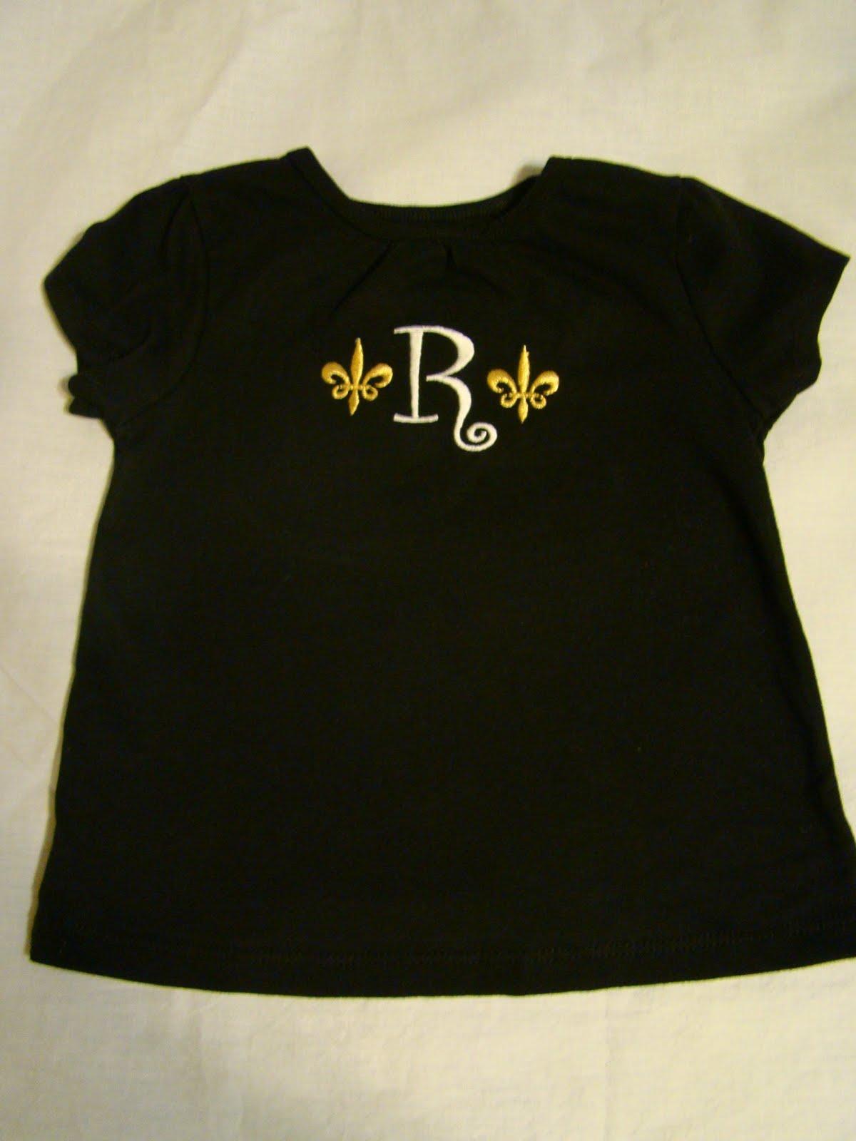 Saints Fleur de Lis Initial shirt
