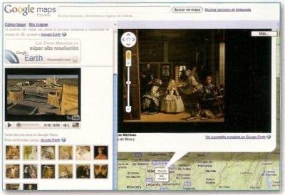 Geoposicionamiento de obras del Museo del Prado en Google Earth