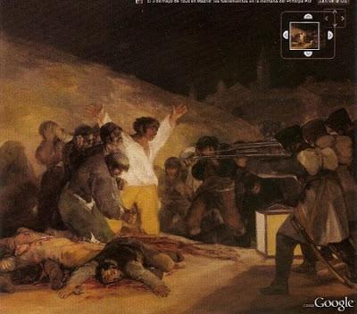 En algunas obras maestras del Prado, como Los fusilamientos del 3 de mayo, de Goya, se pueden ver detalles en mega alta resolución.