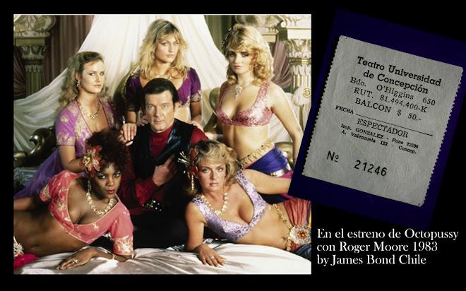 """Hace 32 años, en 1983, en el estreno de """"Octopussy"""" con Roger Moore y la sueca Maud Adams"""