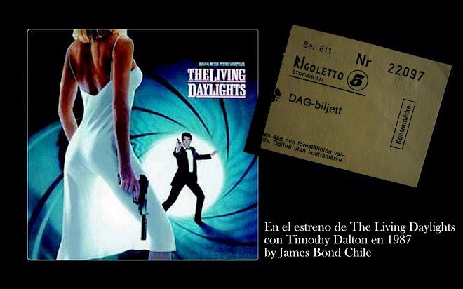 """Hace 28 años, en 1987, en el estreno en Suecia de """"The Living Daylight"""" con Timothy Dalton"""