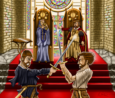 an analysis of the final scene in hamlet by william shakespeare Laertes reveals the murder plot to hamlet and explains that the poisoned sword  now  he orders his soldiers to carry the bodies out, and the play ends analysis.