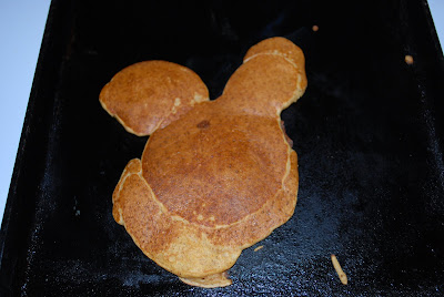 Mickey-shaped pancake fail