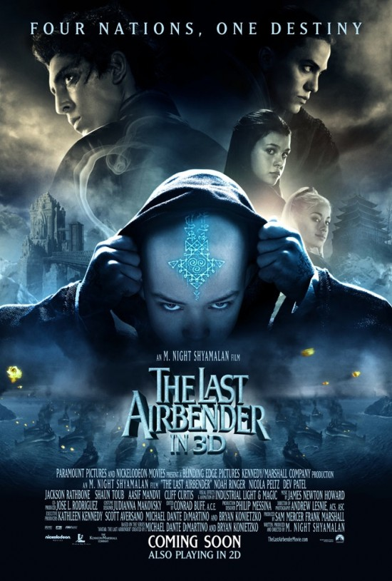 the last airbender new movie posters teaser trailer