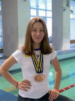 Это наша юная чемпионка Саша