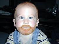 Аккуратненькая бородка не помешает любому малышу