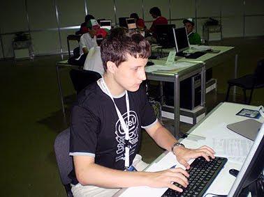 Ярослав Твердохлеб во время участия в олимпиаде. Фото из личного архива