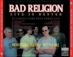 Bad Religion Live in Denver 2003 Back