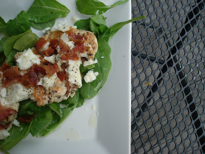 Herbed Balsamic Chicken with Blue Cheese ... and BACON!
