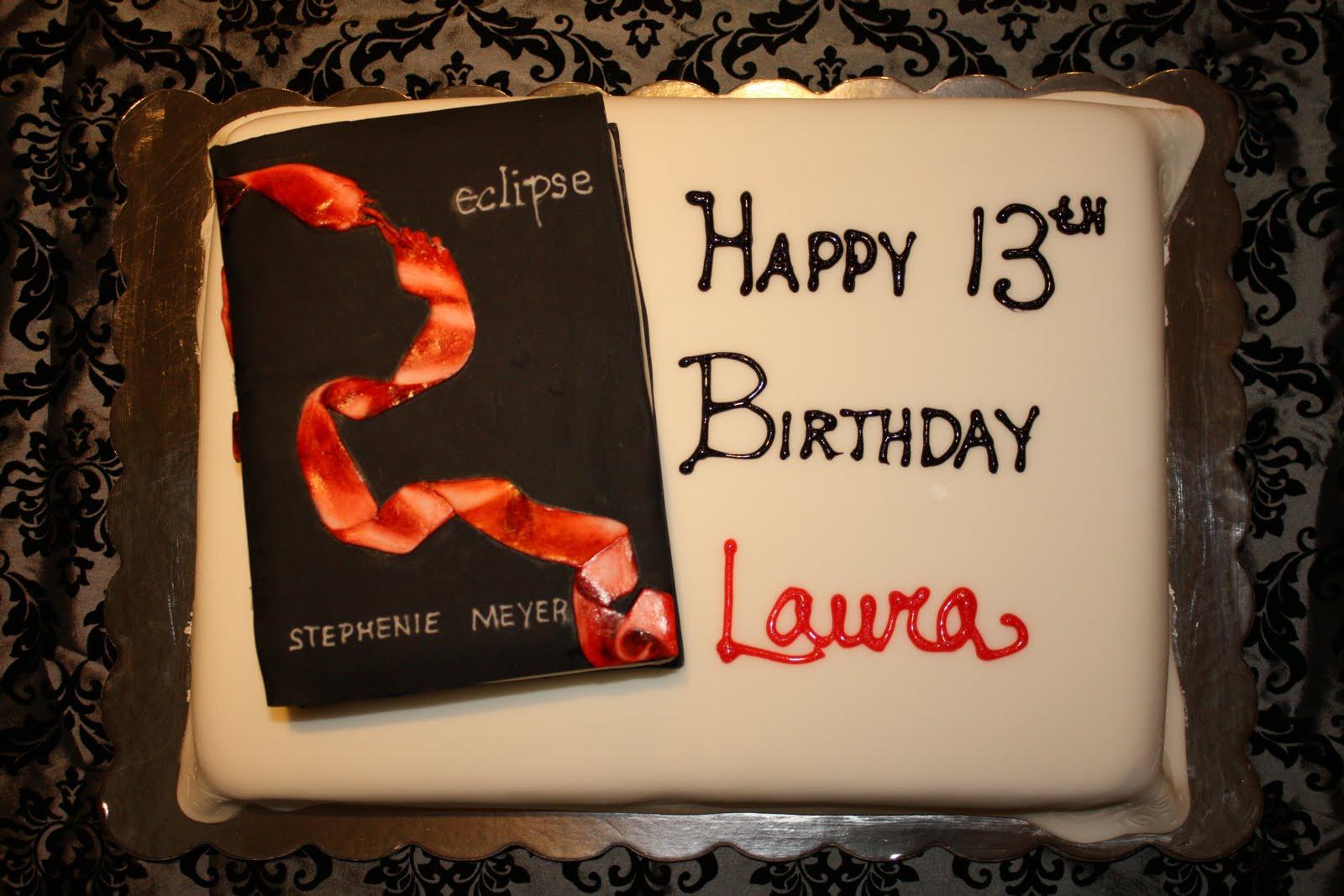 Twilight Eclipse Birthday Cake