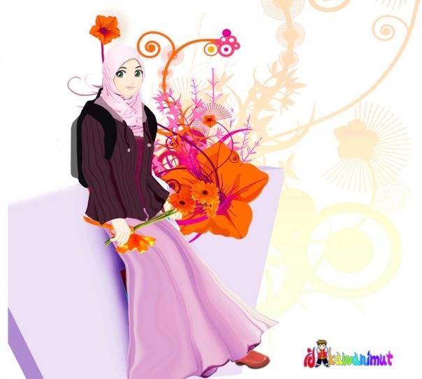 wallpaper muslimah kartun. takegambar muslimah kartun