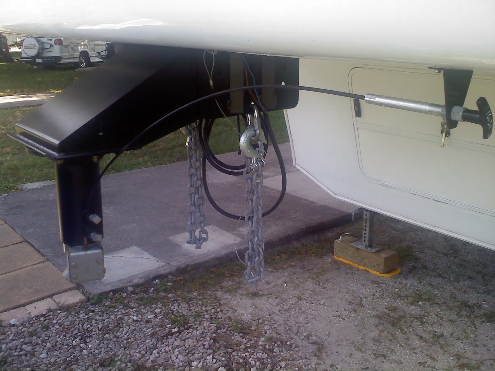 RVing with a Beagle Our Gooseneck Hitch