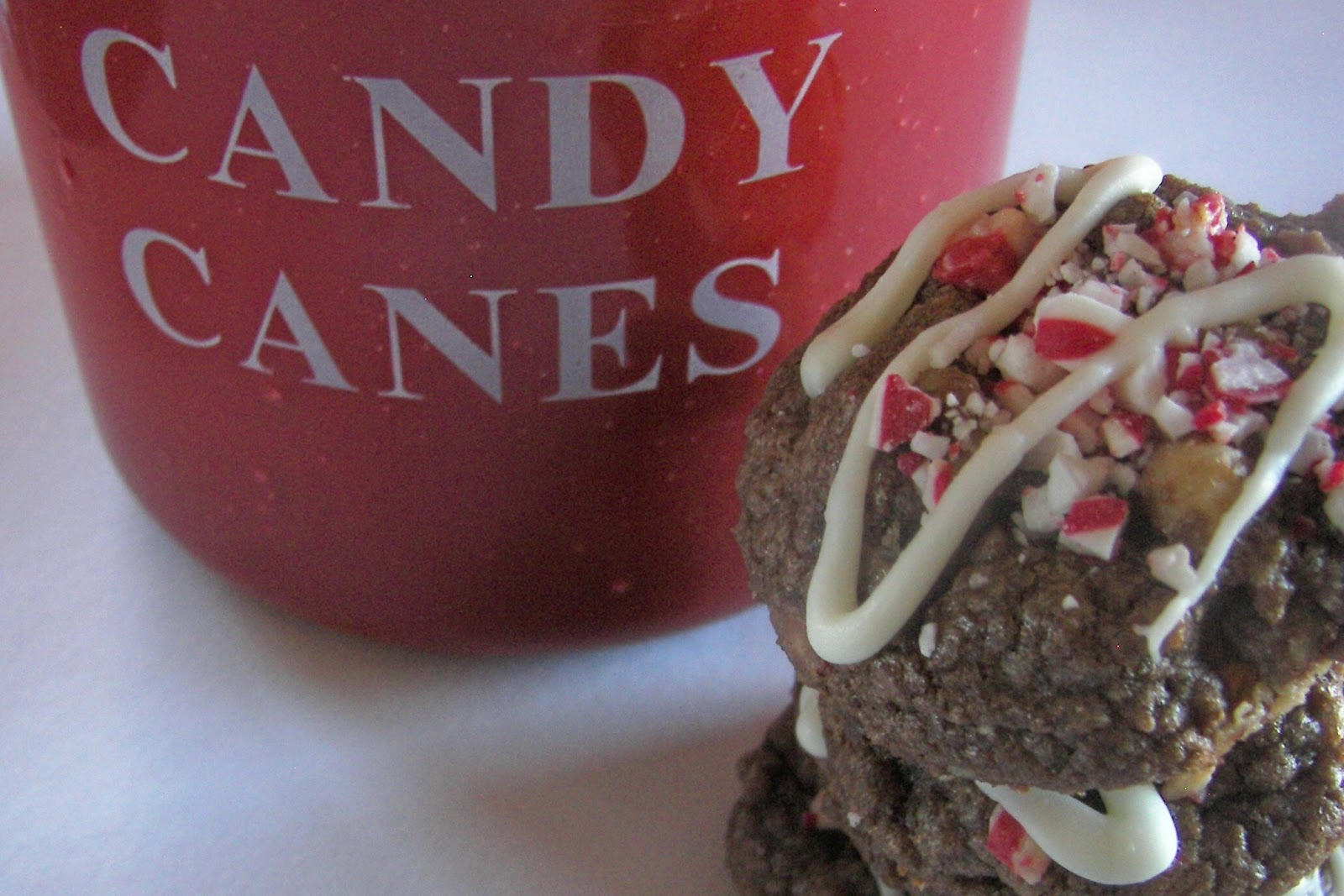Red Couch Recipes: Peppermint Crunch Double Chocolate Cookies