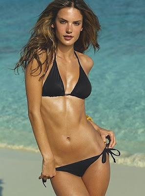 Alessandra Ambrosio in a string bikini