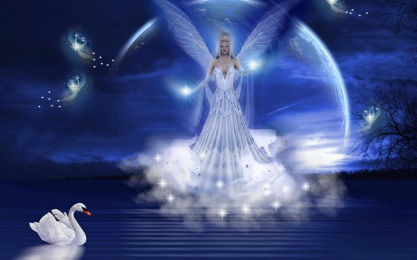 Beautiful Fantasy Angels Wallpapers 1440x900  PIXHOME