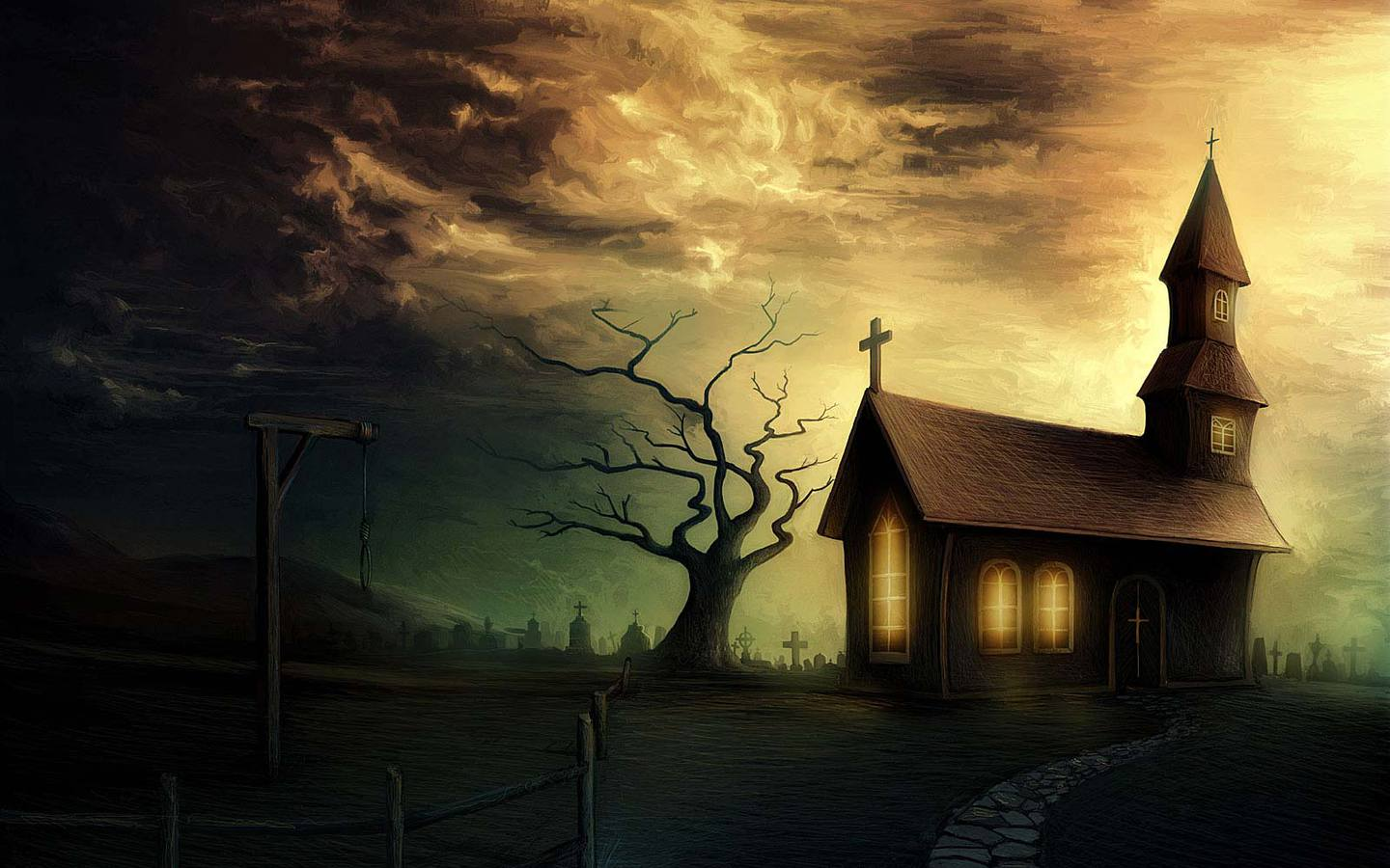 Horror Ghost Houses wallpapers HQ image size : 1440x900