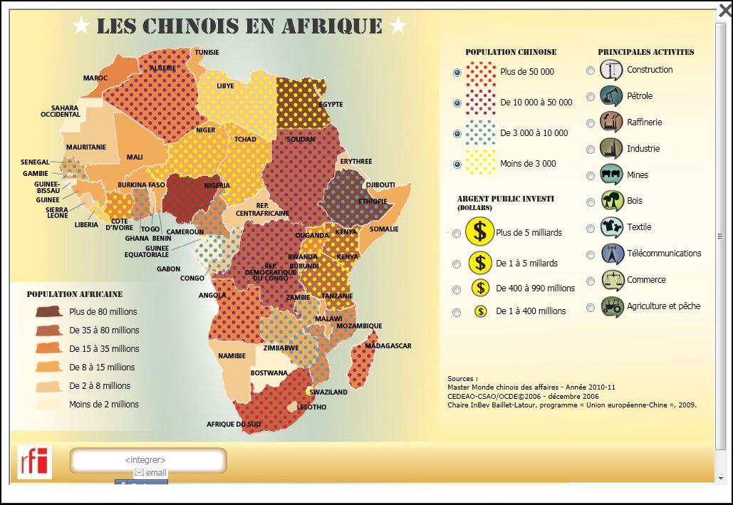 L'hégémonie du dollar contestée par la Chine Les+chinois+en+Afrique