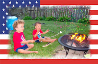 4 th of july roasting marshmallows photo image