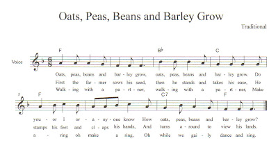 Music for Oats, peas, beans and barley grow