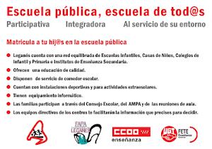PLATAFORMA ESCUELA PÚBLICA DE LEGANÉS