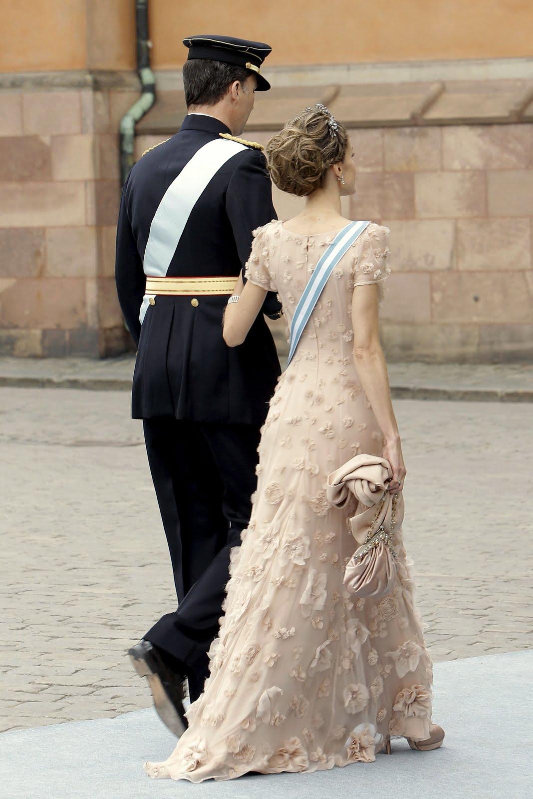 Crown Princess Victoria: Crown Princess Letizia at Royal Wedding