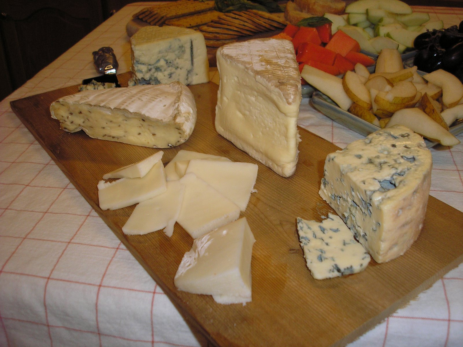 [Amish+Blue,+Champignon+Double+Cream+Brie+w.Mushrooms,+Saint+Andre+Triple+Cream,+Carr+Valley+Fontina,+Fourme+D]