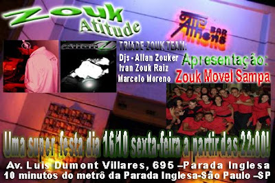 ZoukAtitiude no Athens Bar - Apresentacao Zouk Movel Sampa