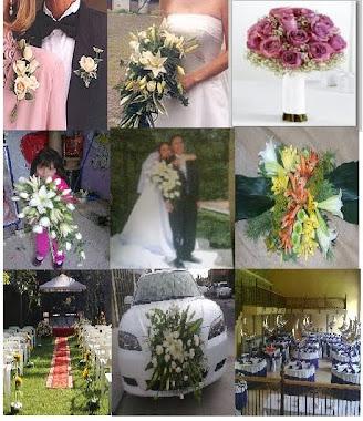 ramos de novia, corseges, decoracion de autos y mesas