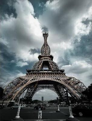Foto da torre Eiffel gorda