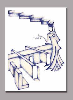 esferográfica bic sobre papel - nada concreto